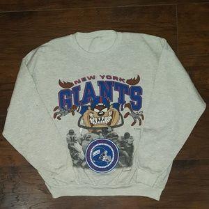 VTG 90´s New York GIANTS TAZ Looney Tunes Sweater